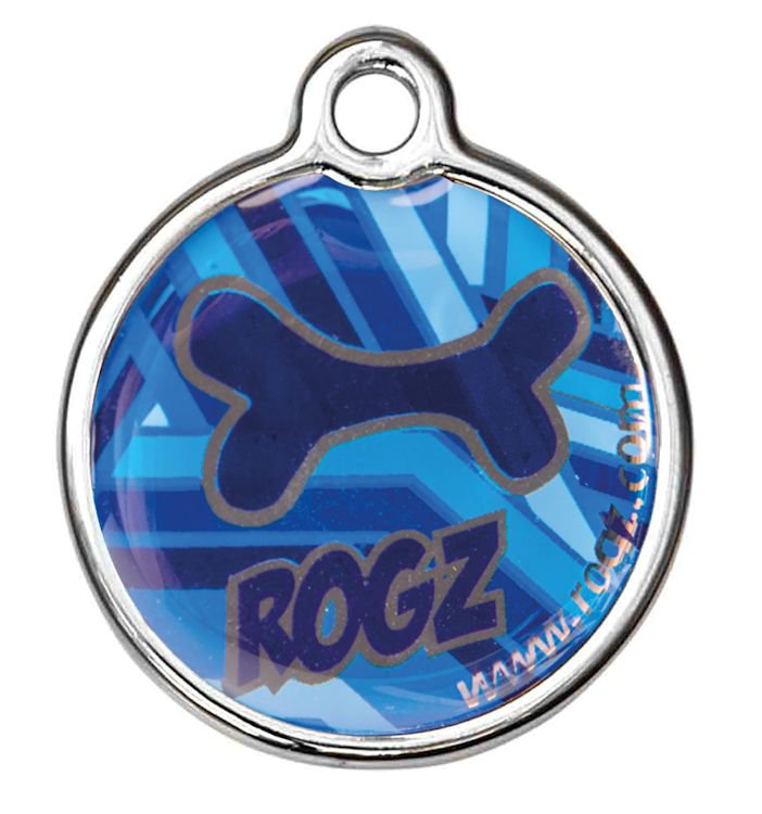 RogZ ID Tag Large Metal Navy Zen