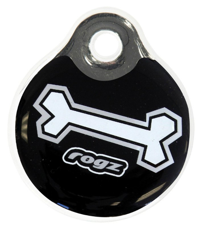RogZ ID Tag Small Black Bone