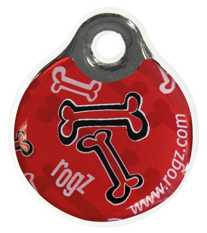 RogZ ID Tag Large Red Rogz Bone