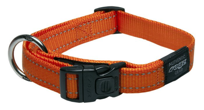 Rogz Fanbelt Halsband Orange L - 20mm