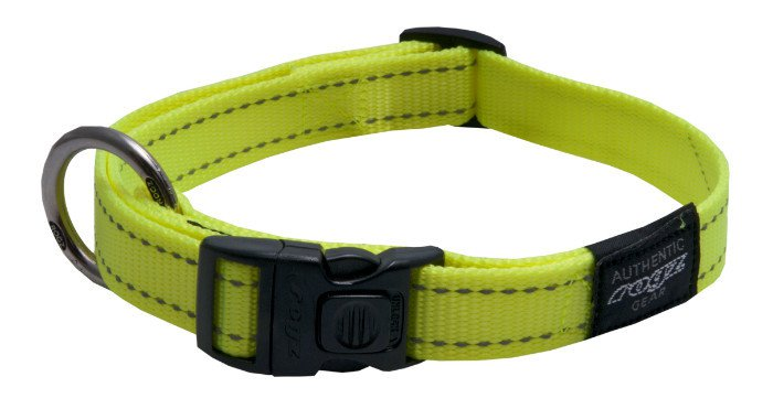 Rogz Fanbelt Halsband Yellow L - 20mm