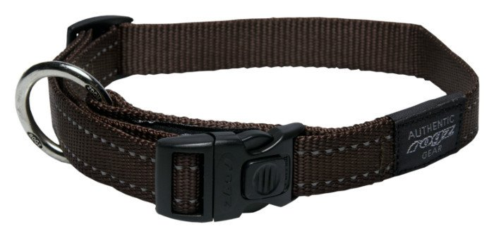 Rogz Fanbelt Halsband Chocolate L - 20mm