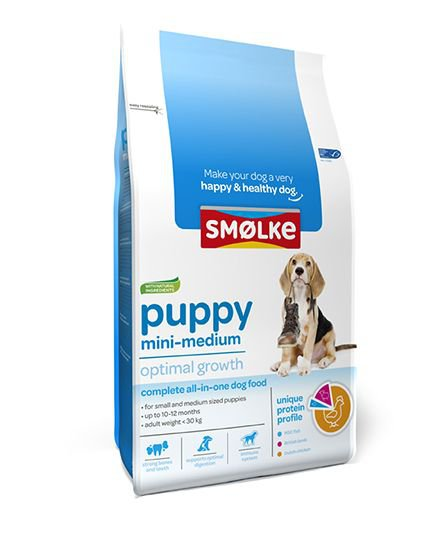 Smølke Hond Puppy Mini/Medium - 12 kg.