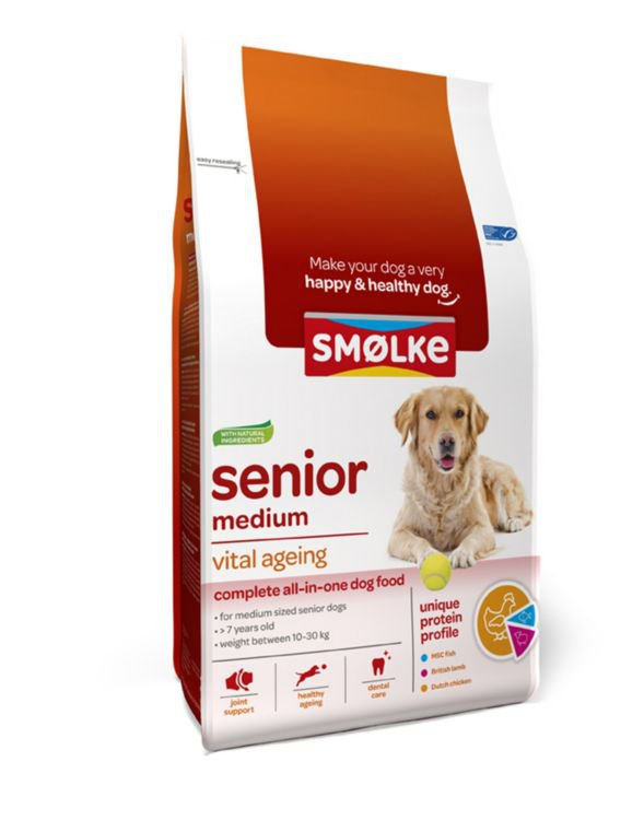 Smølke Hond Senior Medium - 3 kg.