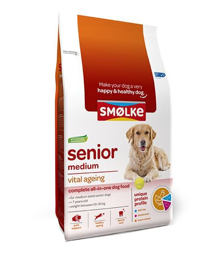 Smølke Hond Senior Medium - 12 kg.