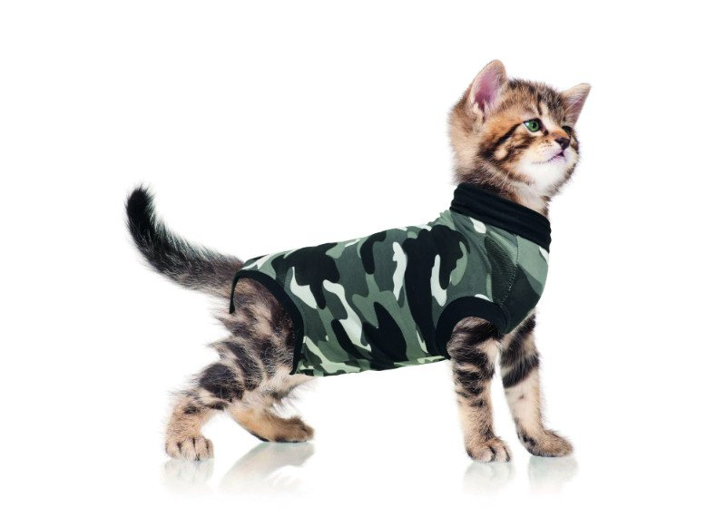 Recovery Suit Cat Zwart Camo Small