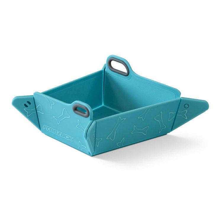 Freezack Foldable Bowl Blue With Bones