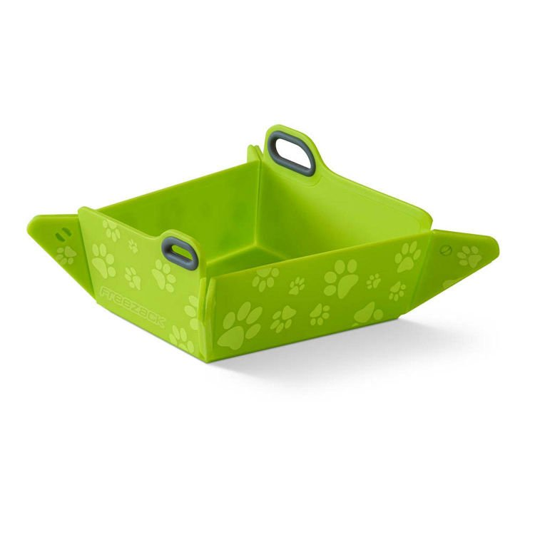 Freezack Foldable Bowl Lime With Paws