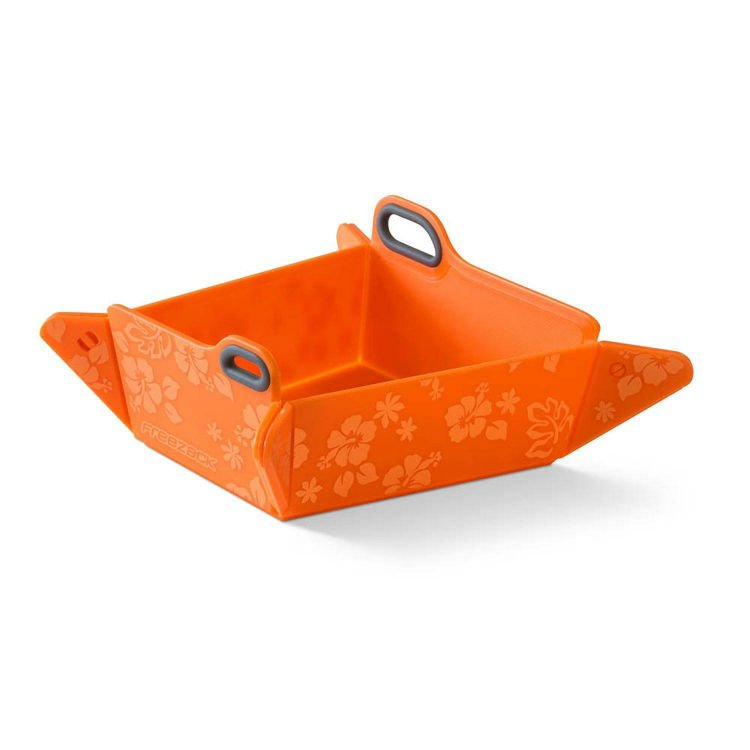 Freezack Foldable Bowl Orange With Flowers