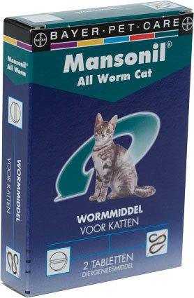 Mansonil All Worm Cat - 2 tablet