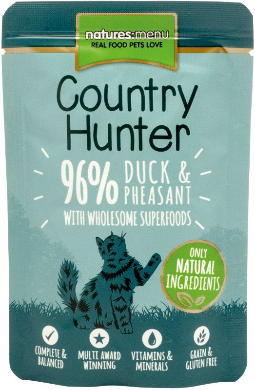 Natures Menu Cat Country Hunter Pouch Duck & Pheasant - 85 gr. (6 verp.)