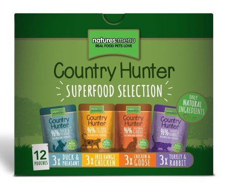 Natures Menu Cat Country Hunter Pouch Multi-Pack - 85 gr.(12 verp.)