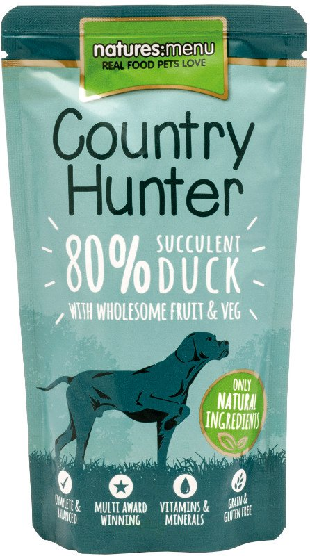 Natures Menu Dog Country Hunter Pouch Duck - 150 gr. (6 verp.)