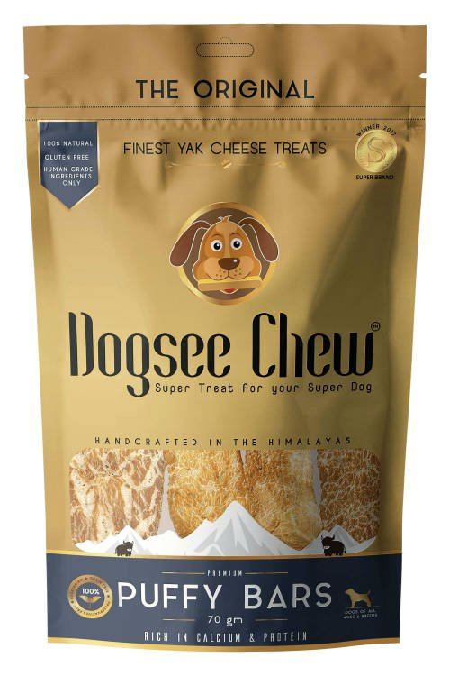 Dogsee Chew Puffy Bars - 70 gr