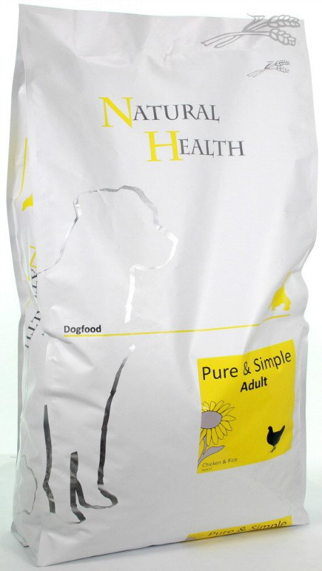 Natural Health Dog Chicken & Rice - 7,5 kg.
