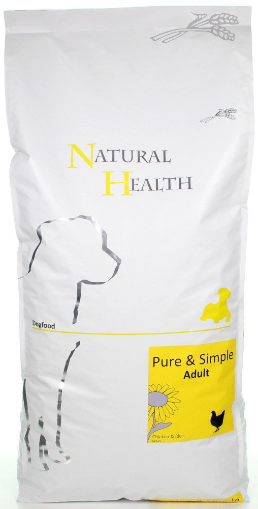 Natural Health Dog Chicken & Rice - 12,5 kg.