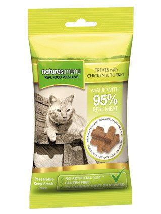 Natures Menu Cat Treats Chicken & Turkey - 60 gr. (12 verp.)