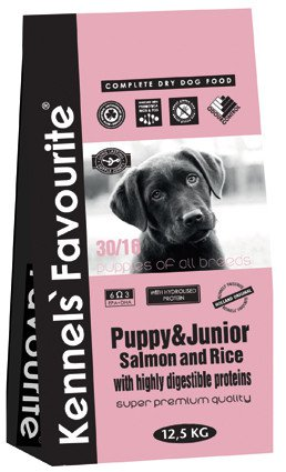 Kennels Favourite Pup & Junior Salmon and Rice - 12,5 kg.