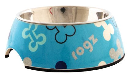 Rogz Lapz Bowlz Trendy Medium Blue Bones