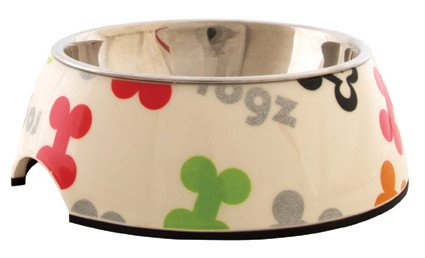 Rogz Lapz Bowlz Trendy Medium Multi Bones