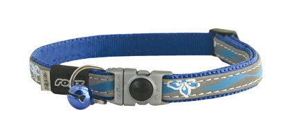 Rogz NightCat Blue Floral - 8mm  - 16,5-23 cm