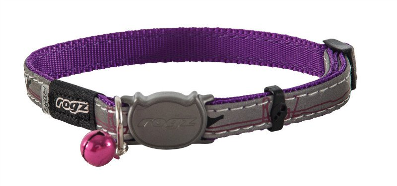 Rogz NightCat Purple Budgies - 11mm - 20-31 cm