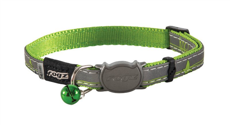 Rogz NightCat Lime Swallows - 8mm  - 16,5-23 cm