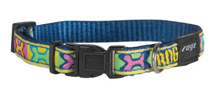 Rogz Jelly Halsband Pop Art Navy S - 11mm