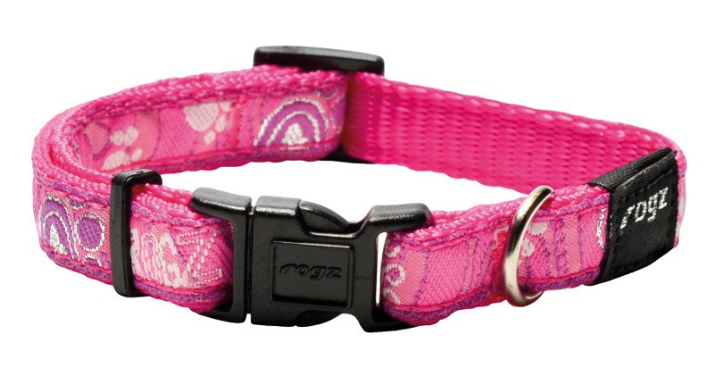 Rogz Jelly Halsband Pink Paw S - 11mm