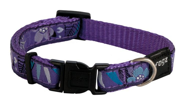 Rogz Jelly Halsband Purple Forest S - 11mm