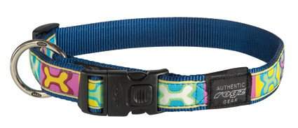 Rogz Armed Response Halsband Pop Art Navy XL - 25mm