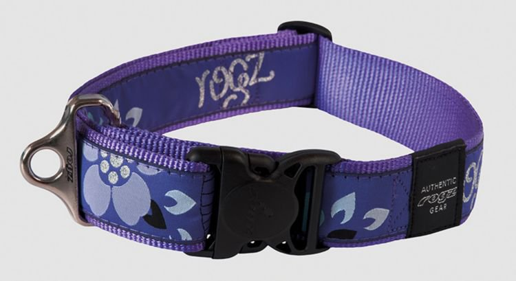 Rogz Speciaal Agent Halsband Purple Forest - 40mm
