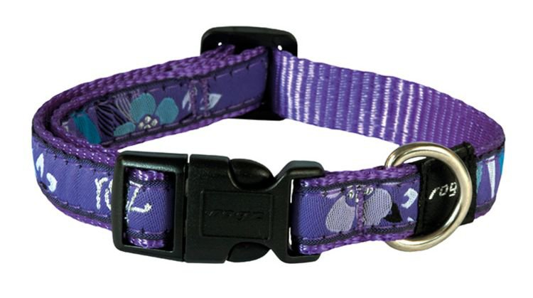 Rogz Scooter Halsband Purple Forest - 16mm