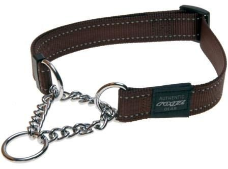 Rogz Fanbelt Obedience Chocolate L - 20mm