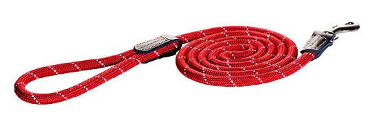 Rogz Rope Lijn Lang Red Large - 180 cm / 12 mm.