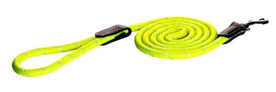 Rogz Rope Lijn Lang Yellow Large - 180 cm / 12 mm.