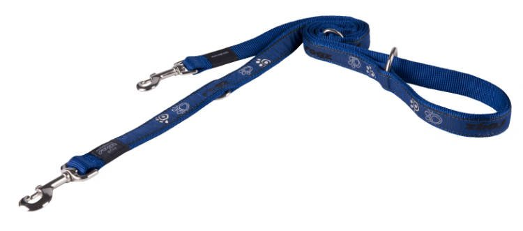 Rogz Armed Response Lijn Multi Navy Paw - 25mm