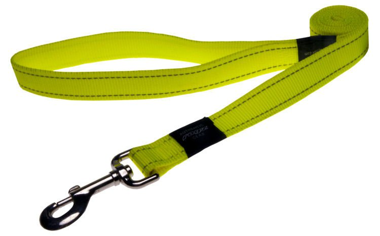 Rogz Fanbelt Lijn Multi Yellow L - 20mm