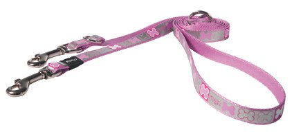 Rogz Reflecto Lijn Multi Medium Pink - 180 cm x 16mm.