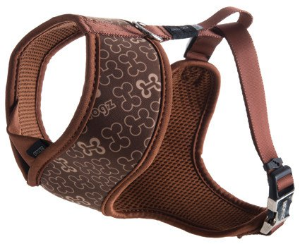 Rogz Lapz Trendy Wrapz Brown Bones M - 16mm