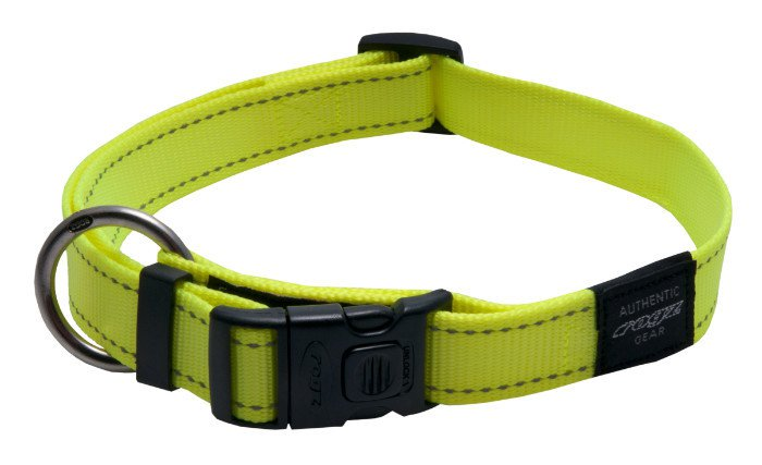 Rogz Lumberjack Halsband Yellow XL - 25mm